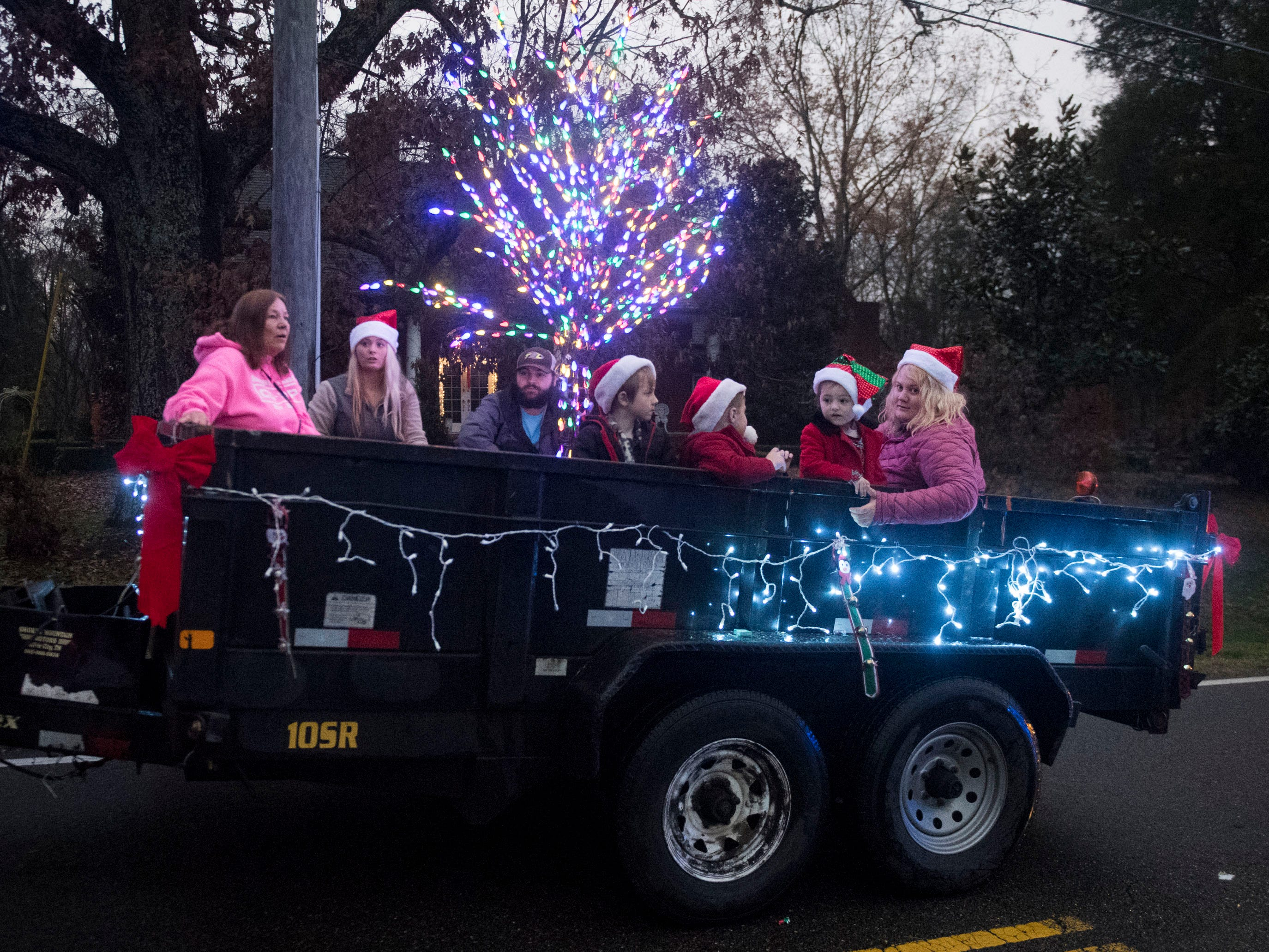 Baumann Tree Service in the Powell Lions Club Christmas Parade on Saturday, December 1, 2018.