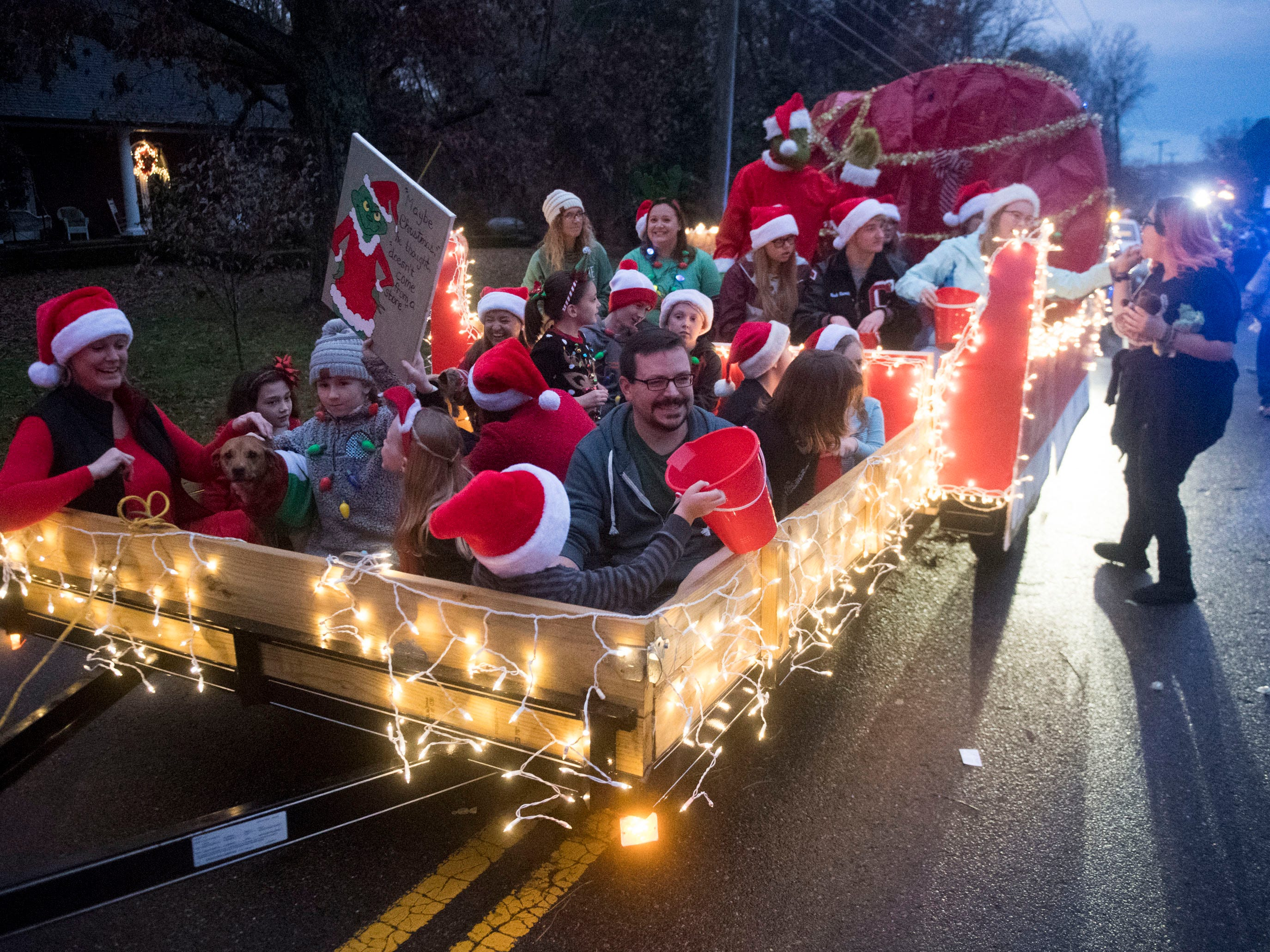 The Powell Church float in the Powell Lions Club Christmas Parade on Saturday, December 1, 2018.