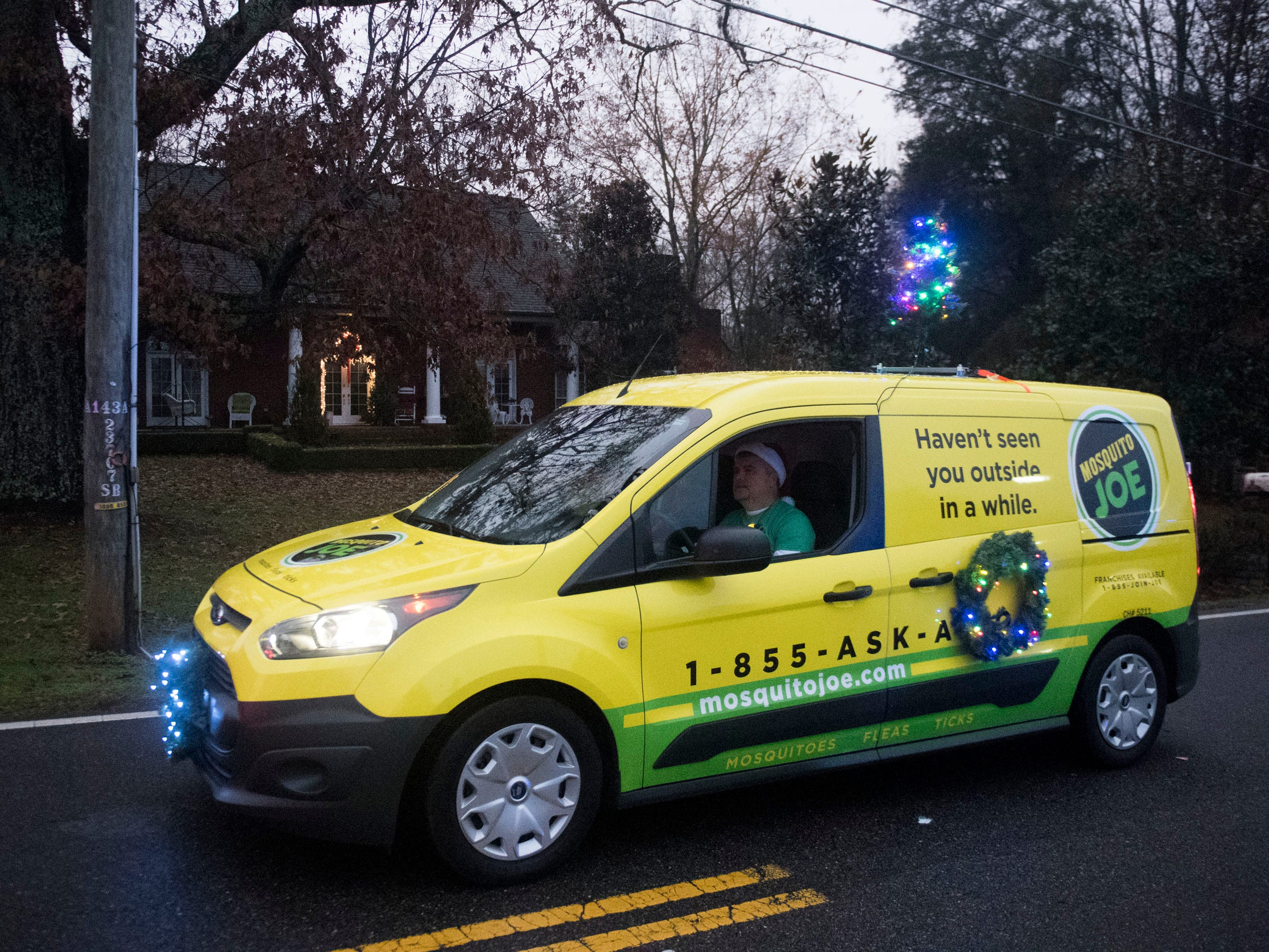 Mosquito Joe in the Powell Lions Club Christmas Parade on Saturday, December 1, 2018.