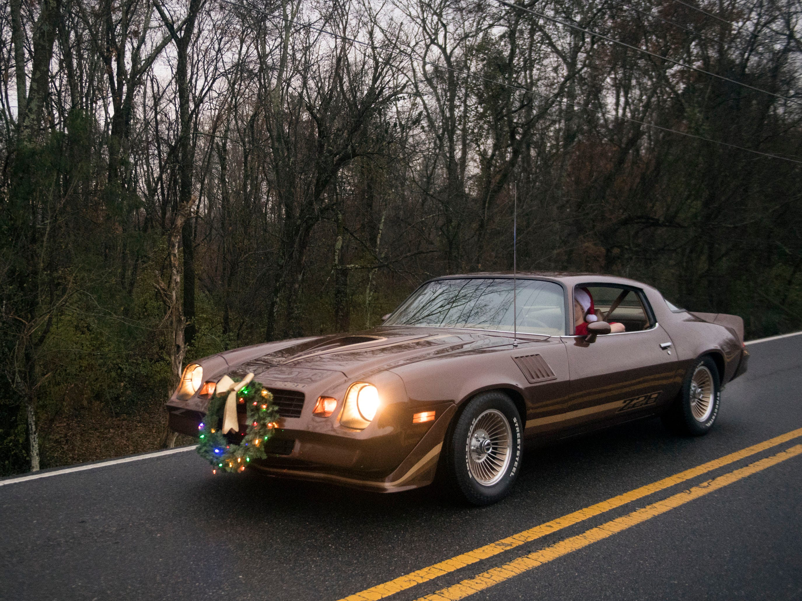 Camaro Z28 in the Powell Lions Club Christmas Parade on Saturday, December 1, 2018.