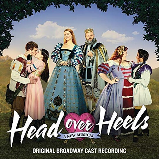 "The Broadway cast recording of ""Head Over Heels"""