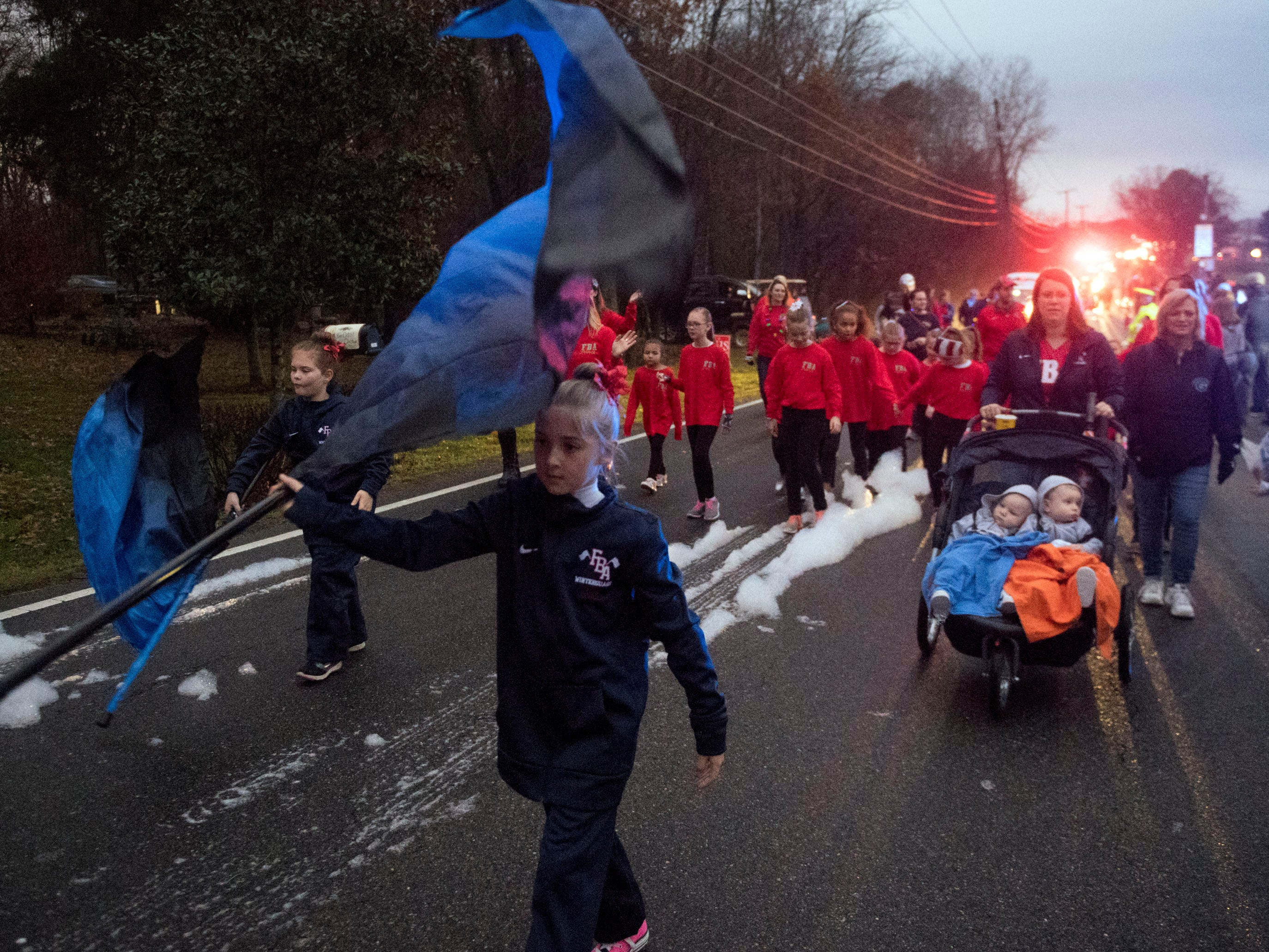 First Baptist Academy in the Powell Lions Club Christmas Parade on Saturday, December 1, 2018.