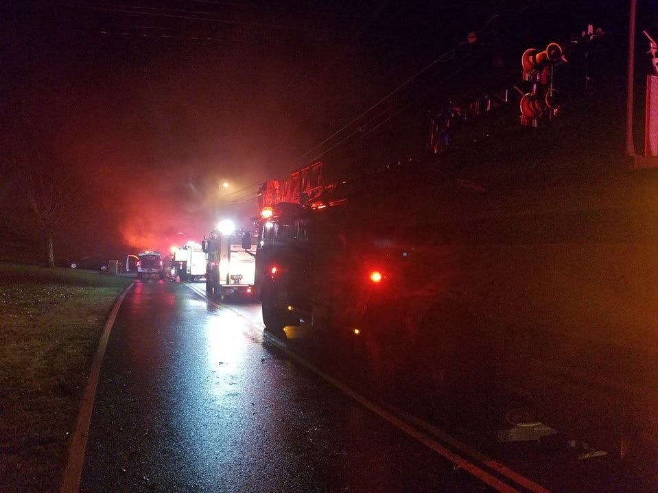 Rural Metro crews responded to a fire at 1100 N Campbell Station Road at 12:17 a.m. Sunday  in which a house suffered major damage and no occupants were injured.