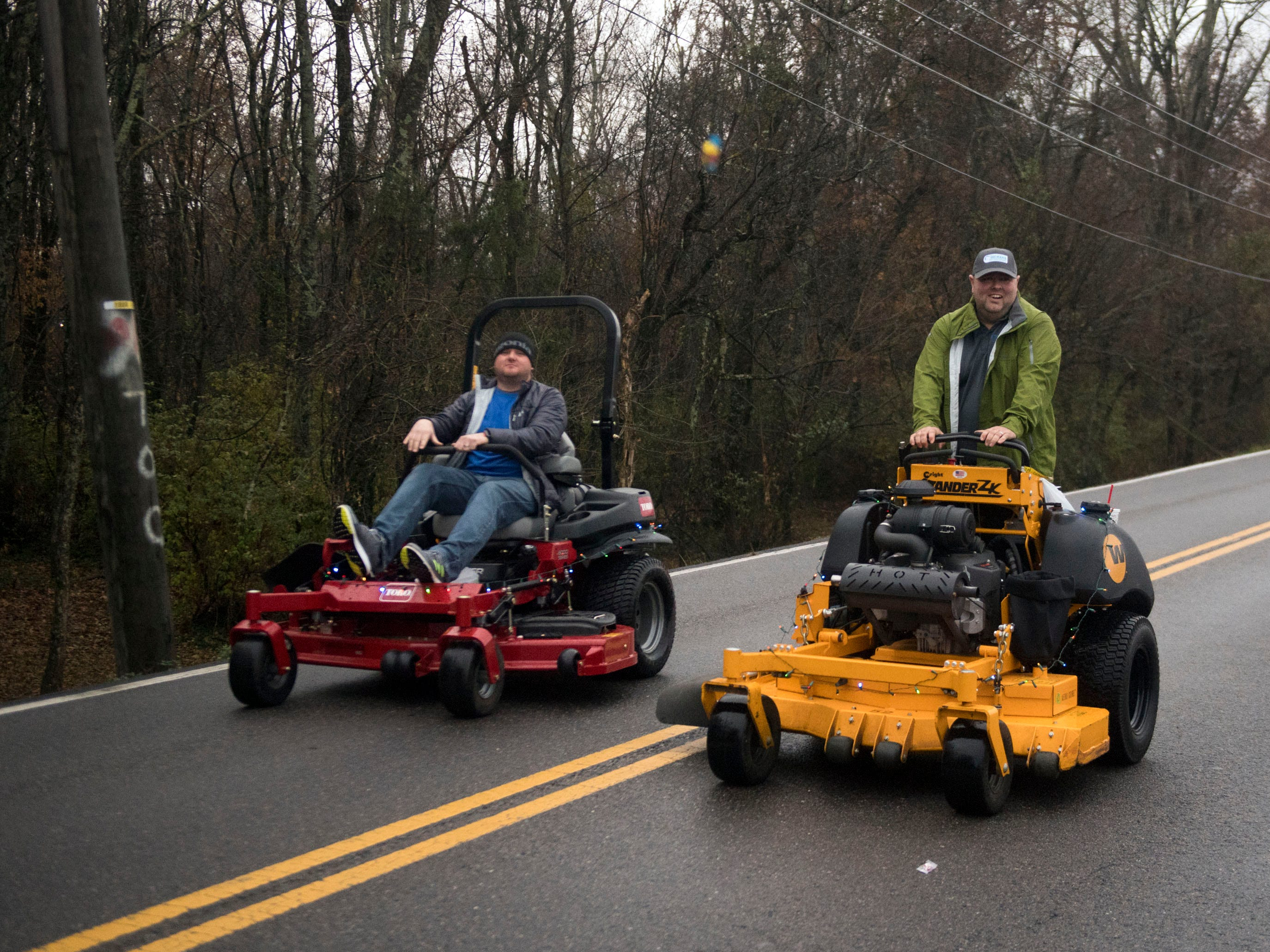 Dickens Turf and Landscape Supply participating in the Powell Lions Club Christmas Parade on Saturday, December 1, 2018.