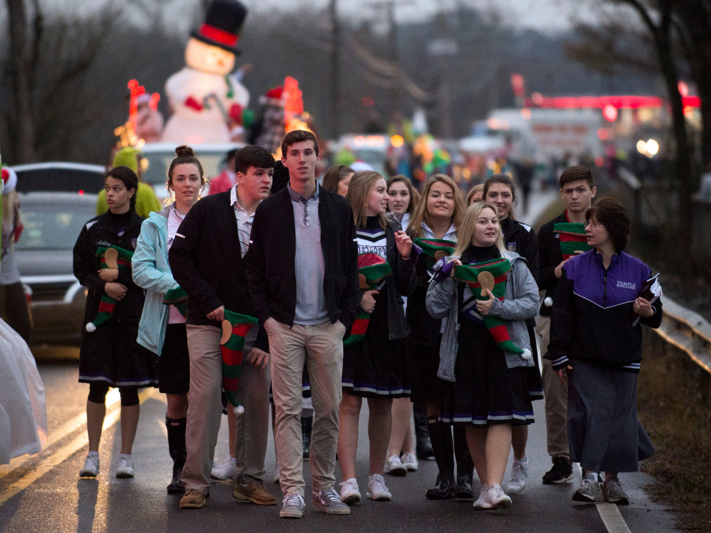 Temple Baptist Academy in the Powell Lions Club Christmas Parade on Saturday, December 1, 2018.