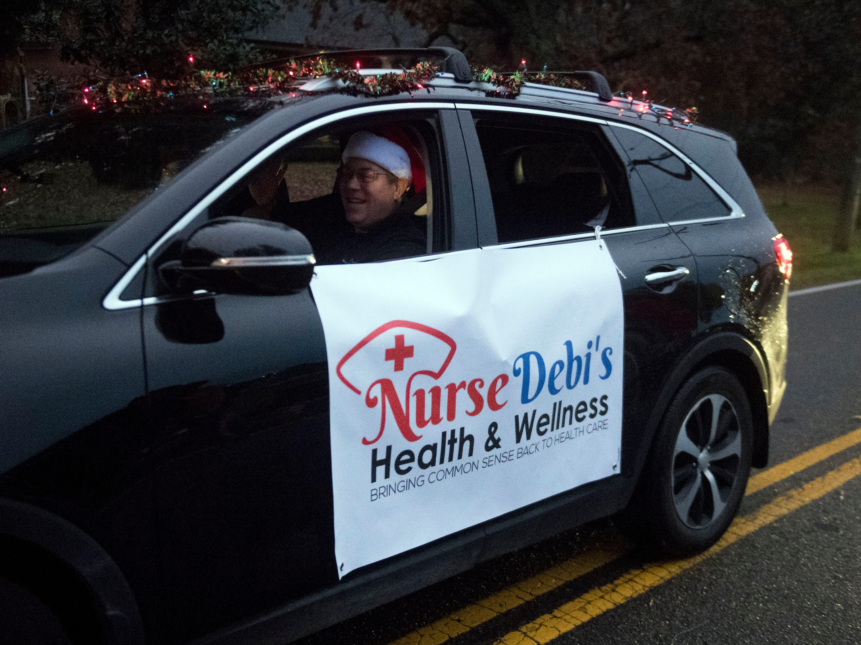 Nurse Debi's Health & Wellness in the Powell Lions Club Christmas Parade on Saturday, December 1, 2018.