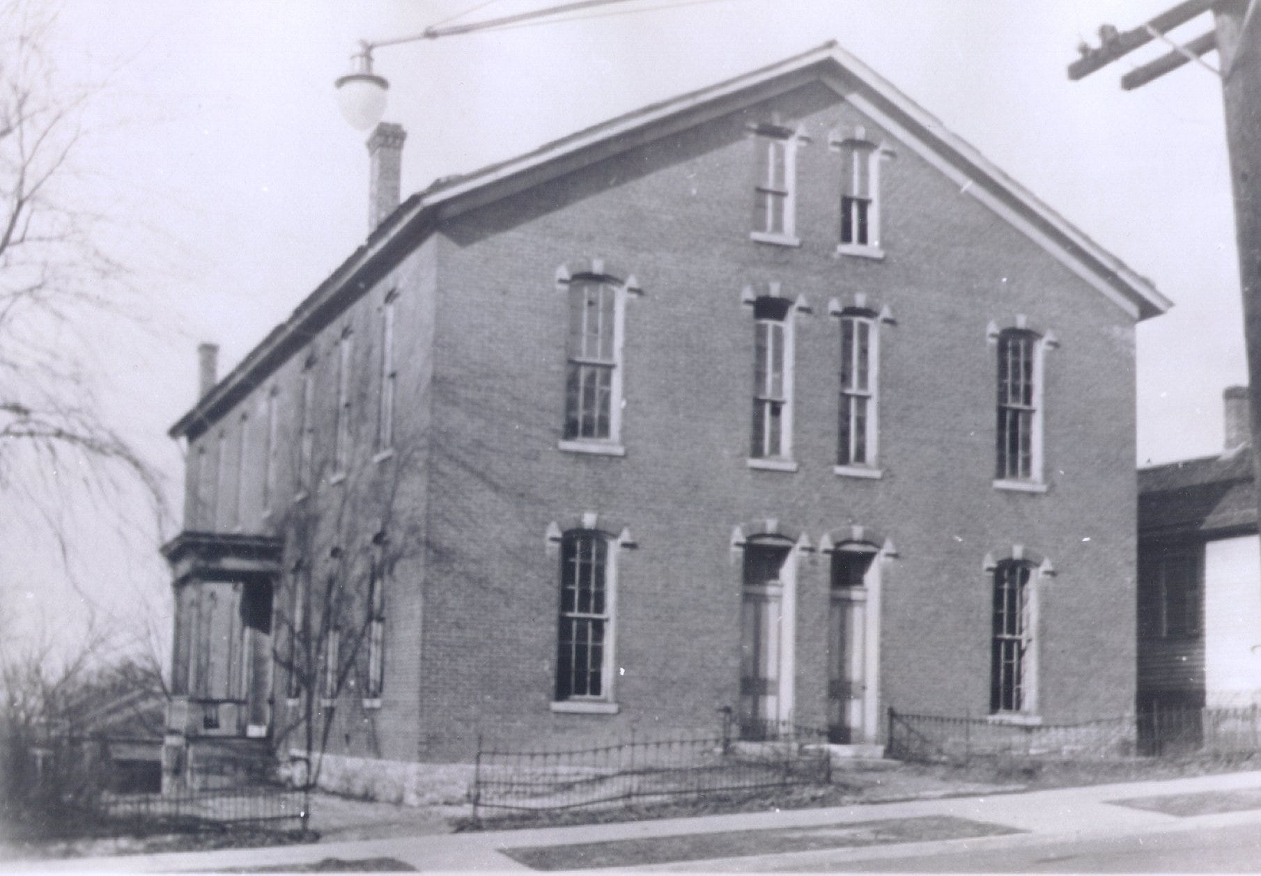 In 1852, the Catholic Church opened a parochial school in Lafayette at Fifth and Cincinnati streets. This is St. Mary's School for Boys, the north of which is on Brown Street between Fifth and Sixth streets.