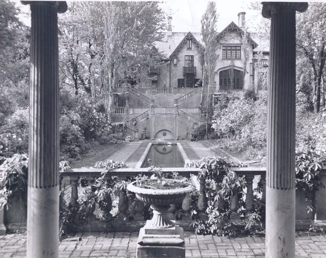 Fowler House, show here circa 1920, was built in 1852 as a home for Moses and Eliza Fowler.