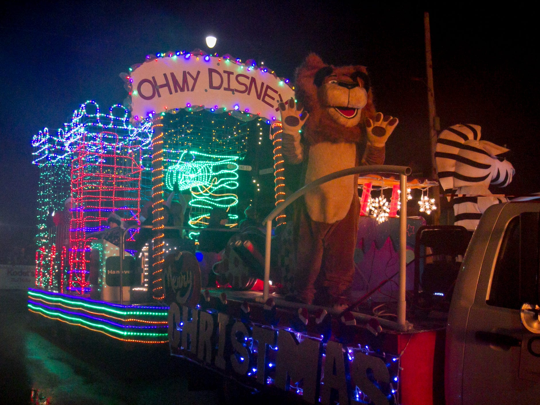 Citizens Insurance entered this crowd-pleasing float in the Christmas in the 'Ville parade Saturday, Dec. 1, 2018.