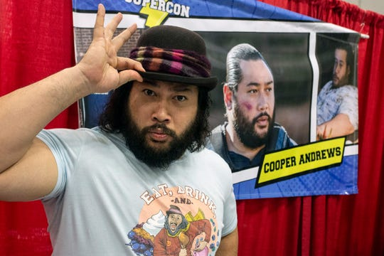 Actor Cooper Andrews (the beloved character Jerry on The Walking Dead) posed for photos and signed autographs during Louisville SuperCon. 12/1/18
