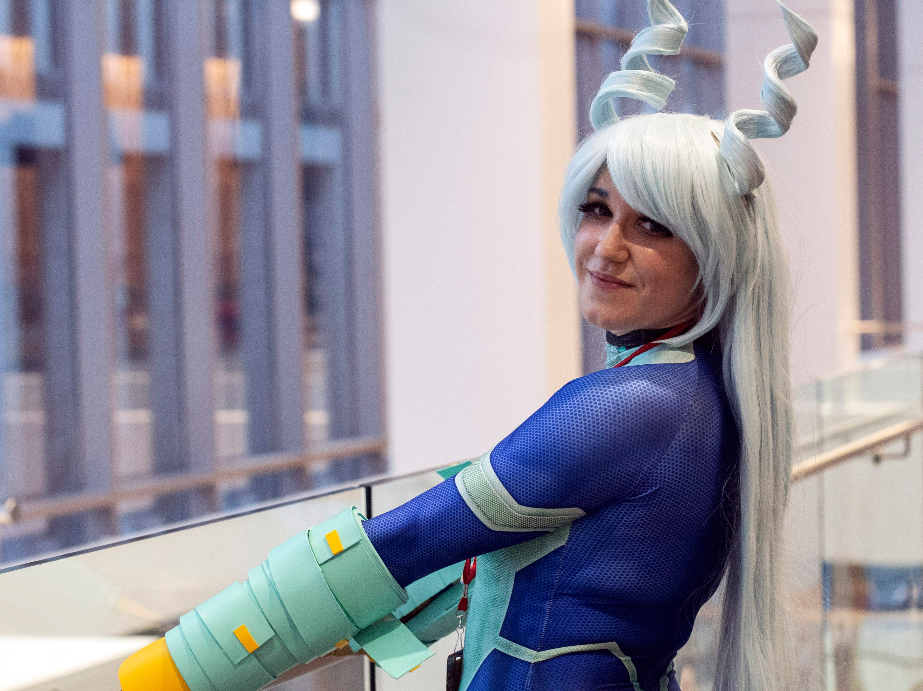 Amanda Fitzgerald of New Albany dressed as her cosplay character Nejire Hadou for the Louisville SuperCon. 12/1/18