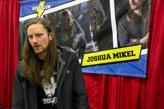 Actor Joshua Mikel (The Walking Dead) answered questions from fans during Louisville SuperCon. 12/1/18