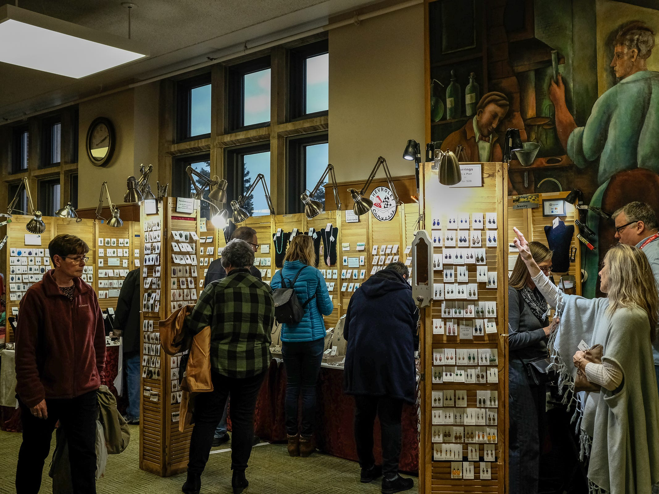 The annual Michigan State University Arts & Crafts Show wrapped up Sunday, Dec. 2, 2018. Three floors of the MSU Union housed 175 vendors displaying their wares for the 55th year.
