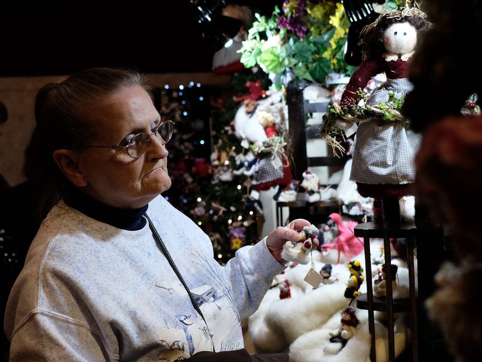 Pat Rutherford from Lansing, says she has attended the MSU Winter Arts & Craft Show every year and has even been a vendor at times. The event wrapped up Sunday, Dec. 2, 2018.