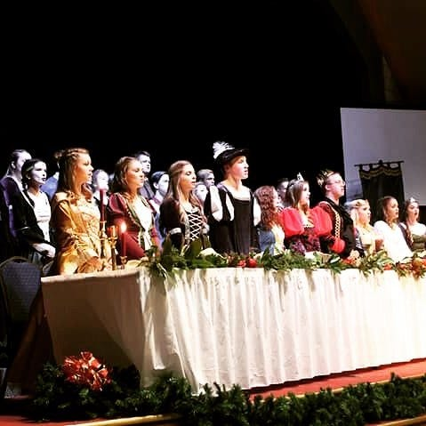 Mountain Home High School students perform during the 2017 Madrigal Feast.