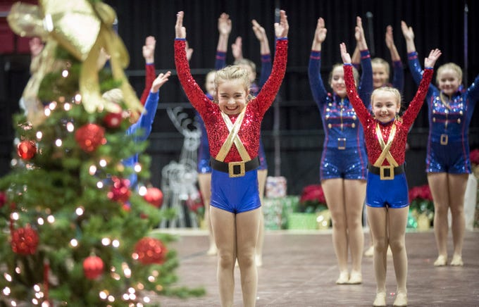 Dancers with Cole Academy perform a routine during the 82nd annual Muncie Christmas Sing on Sunday inside Worthen Arena. The event has been a Muncie tradition since the Great Depression.
