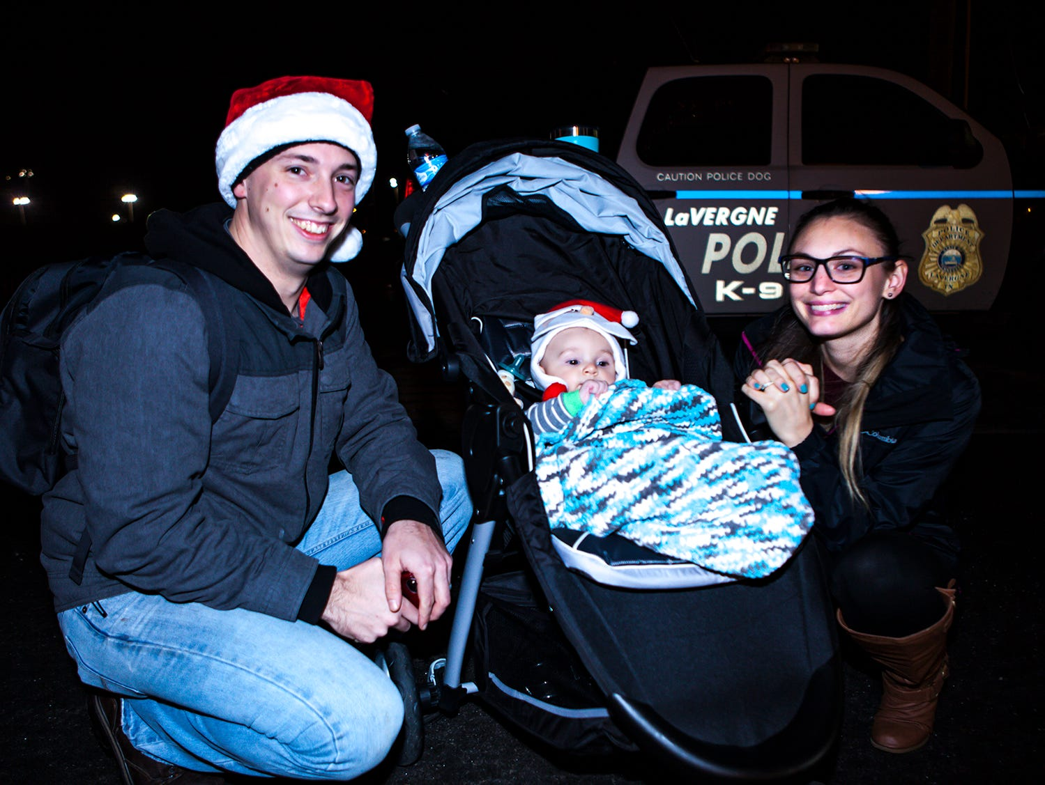 Gill, Braden and Tascha Martin at La Vergne's 2018 Christmas Parade of Lights, held Saturday, Dec. 1, 2018.
