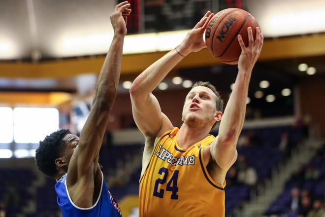 Garrison Mathews scored a season-high 29 points in Lipscomb's 84-74 win over Middle Tennessee State Saturday at Murphy Center.