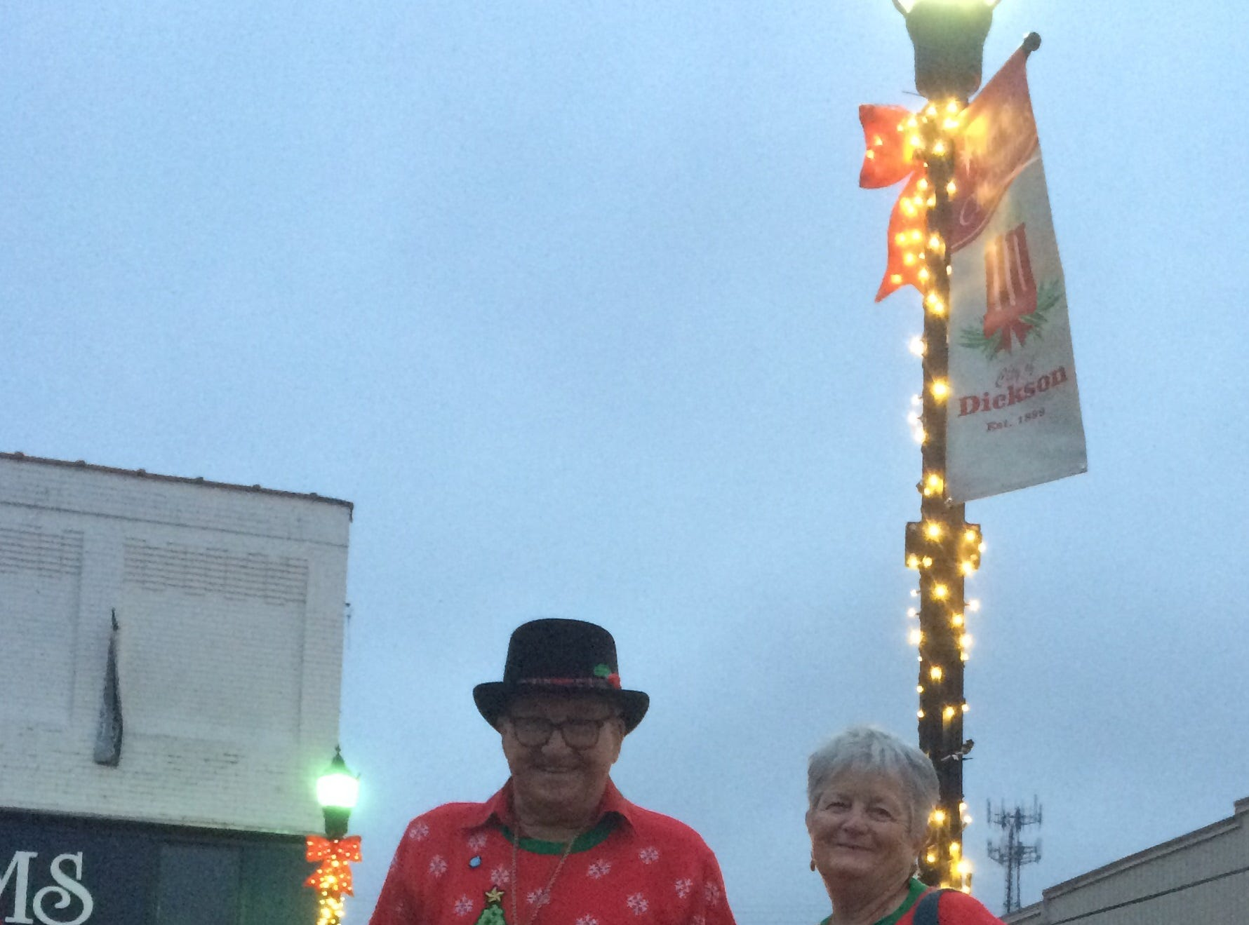 Christmas in Downtown Dickson. Pictured are Ray and Lynn Taylor.