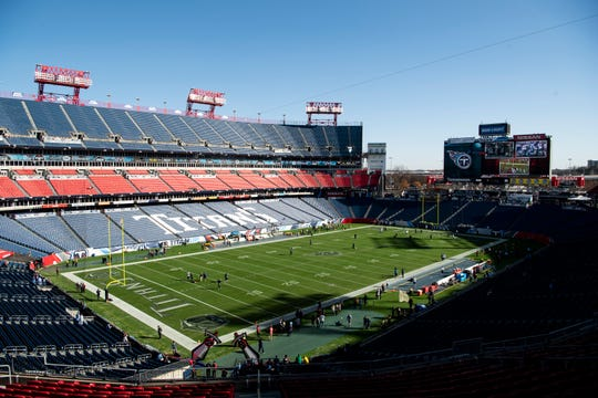 The sun shines on the field before the game between the Tennessee Titans and the New York Jets at Nissan Stadium in Nashville, Tenn., Sunday, Dec. 2, 2018.