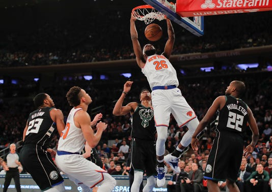 Bucks Knicks Basketball 4