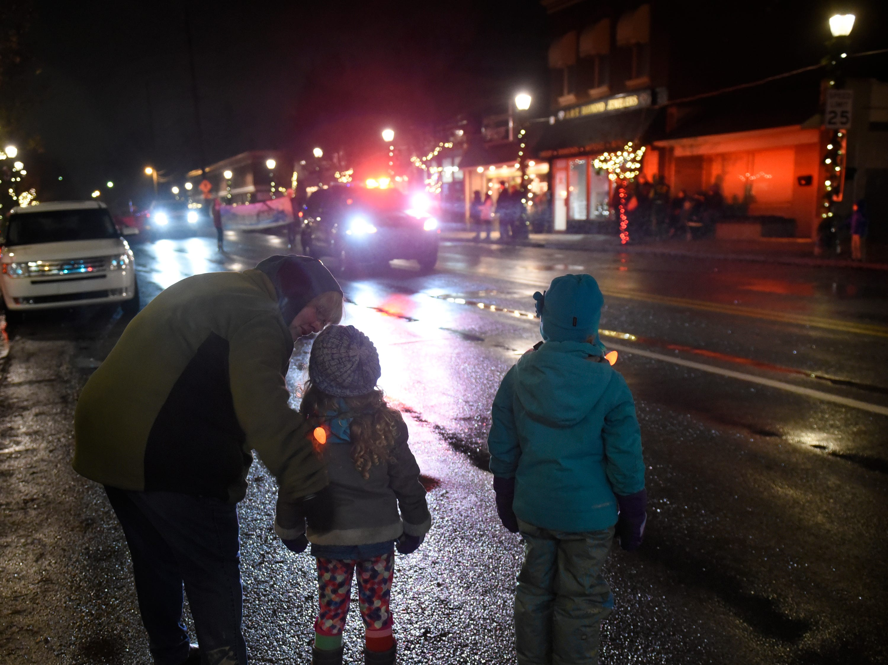 The start of South Lyon's Lighted Parade, part of the Cool Yule celebration Dec. 1, 2018.
