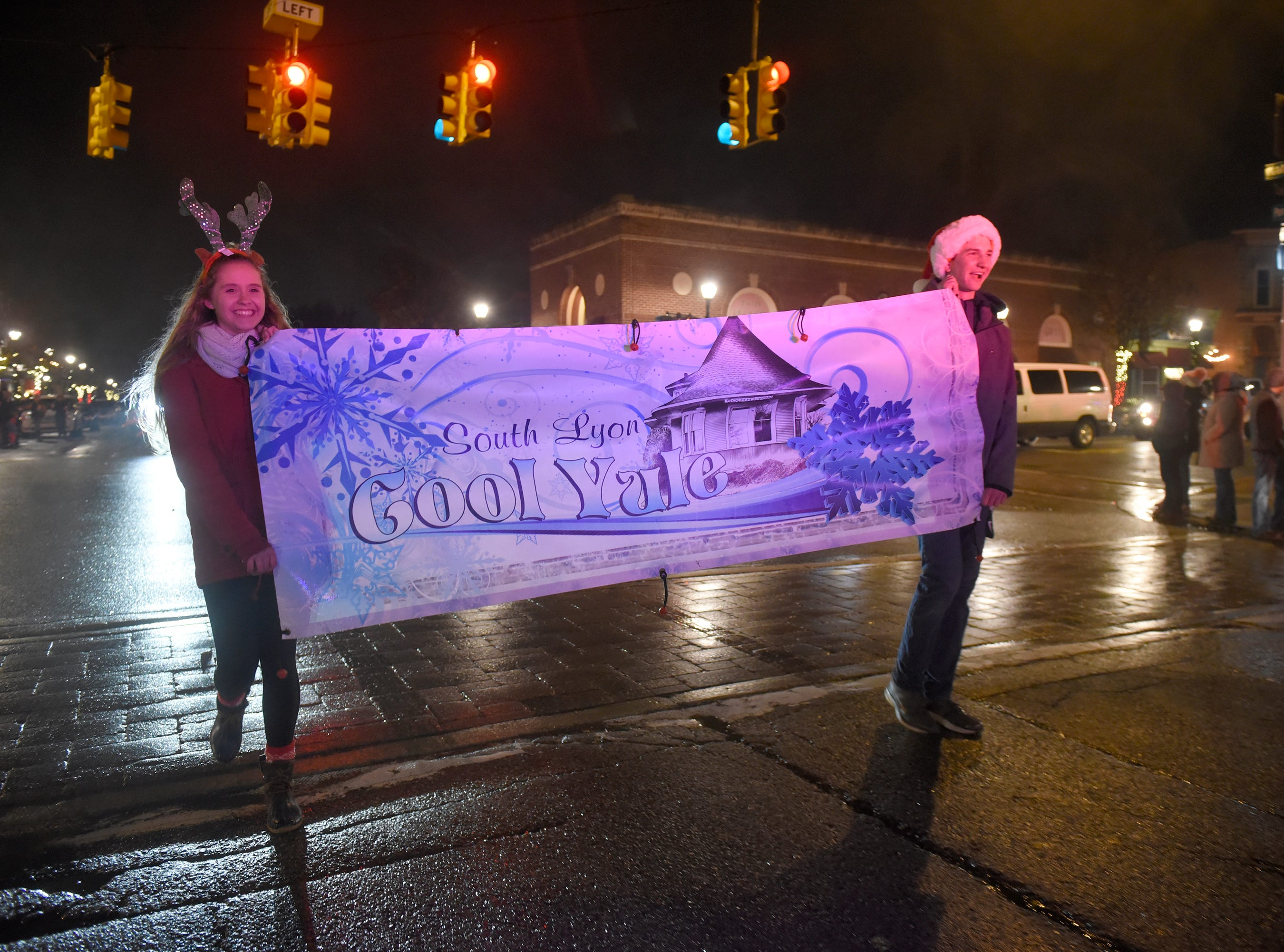 The Lighted Parade heads down Lafayette Street in downtown South Lyon during the Cool Yule celebration Dec. 1, 2018.