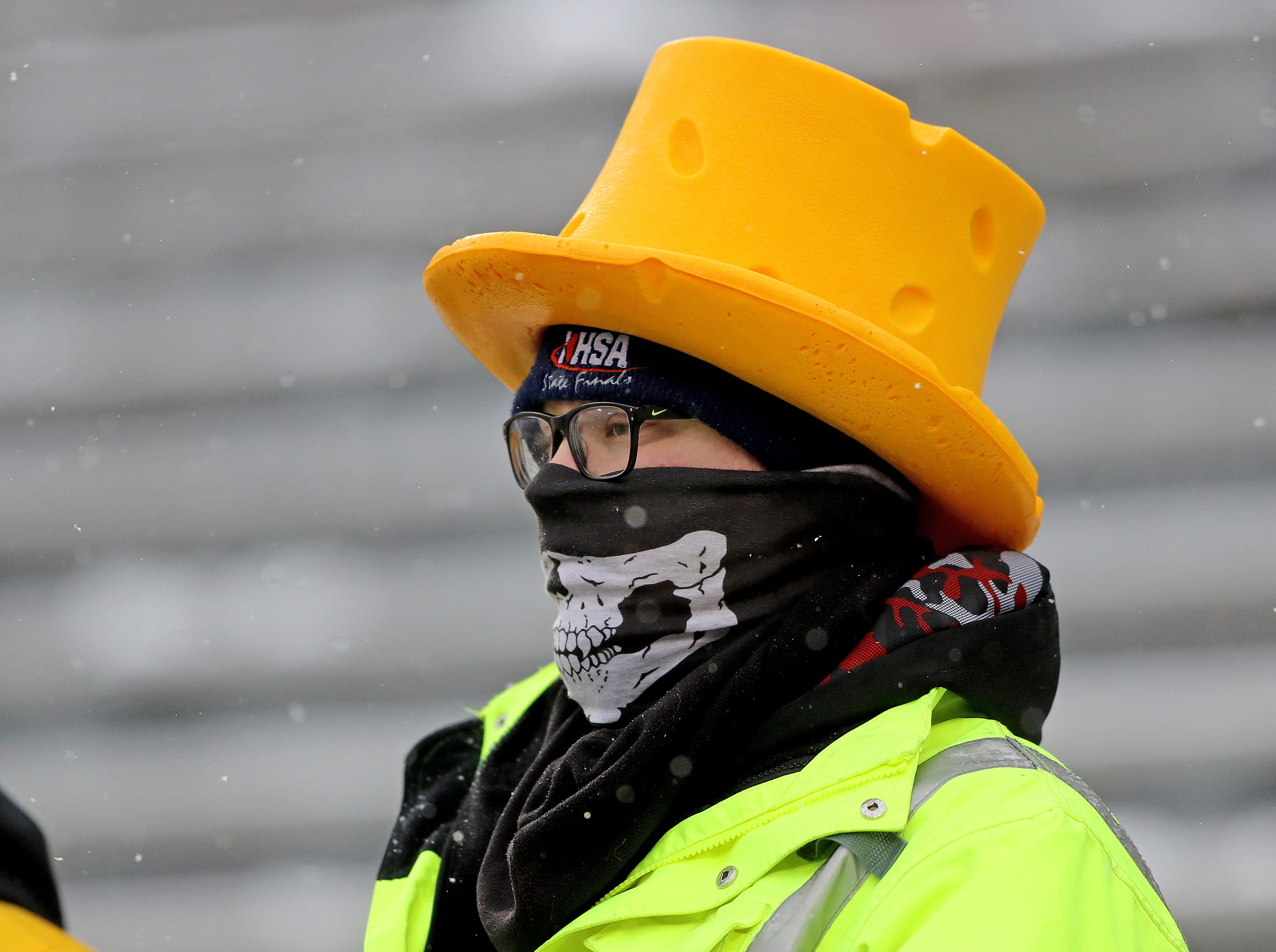 Packers fans show their winter gear before the game against the Arizona Cardinals Sunday, December 2, 2018 at Lambeau Field in Green Bay, Wis.