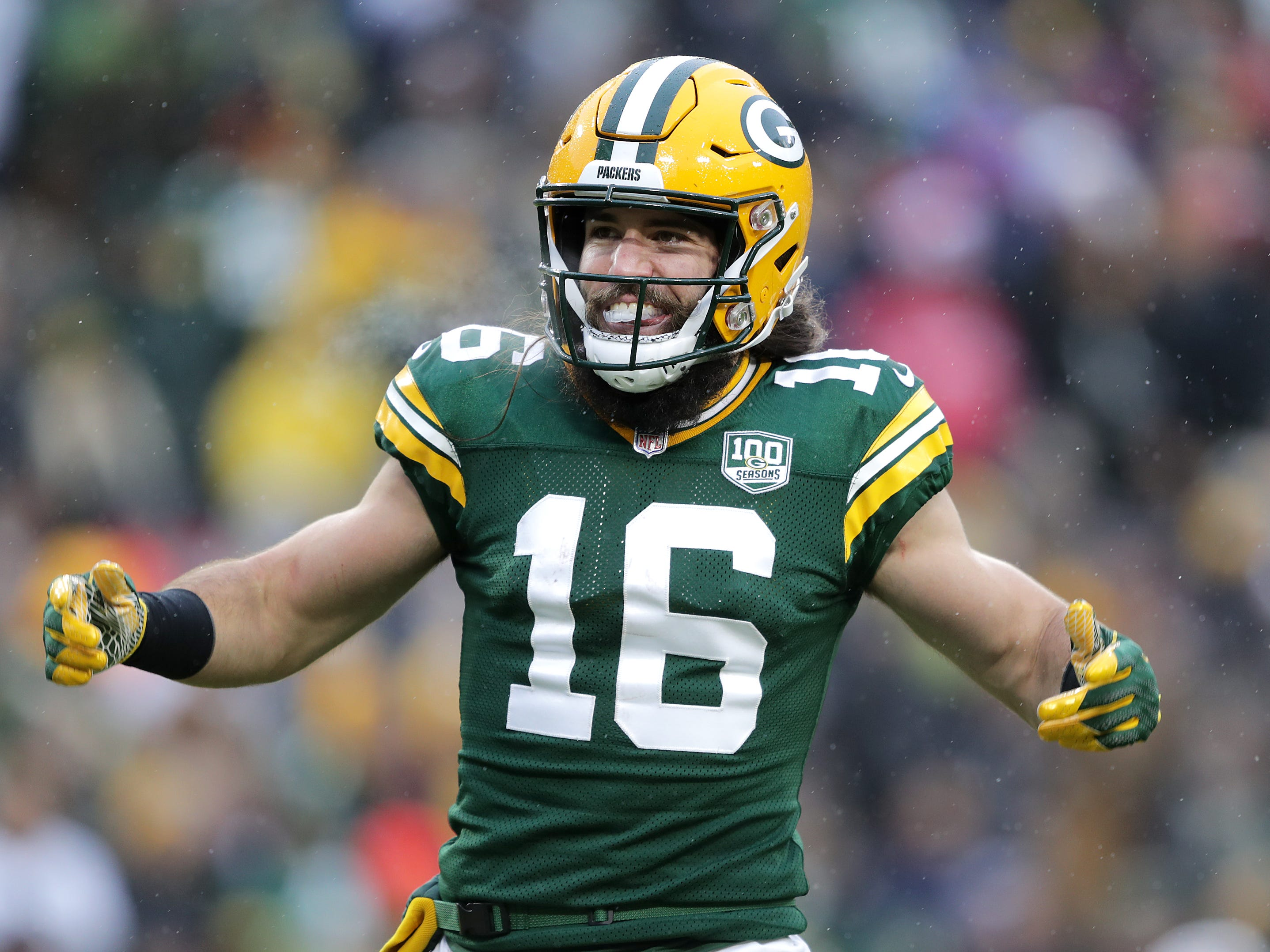 Green Bay Packers wide receiver Jake Kumerow against the Arizona Cardinals during their football game on Sunday, December 2, 2018, at Lambeau Field in Green Bay, Wis. Wm. Glasheen/USA TODAY NETWORK-Wisconsin.