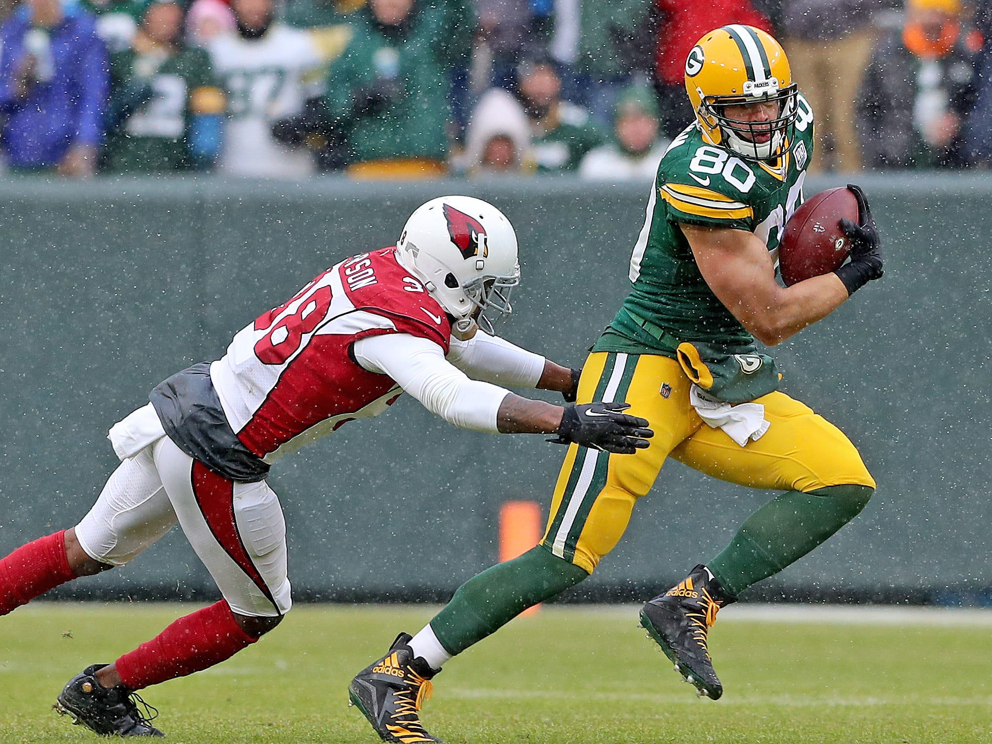 against the Arizona Cardinals Sunday, December 2, 2018 at Lambeau Field in Green Bay, Wis. Jim Matthews/USA TODAY NETWORK-Wis