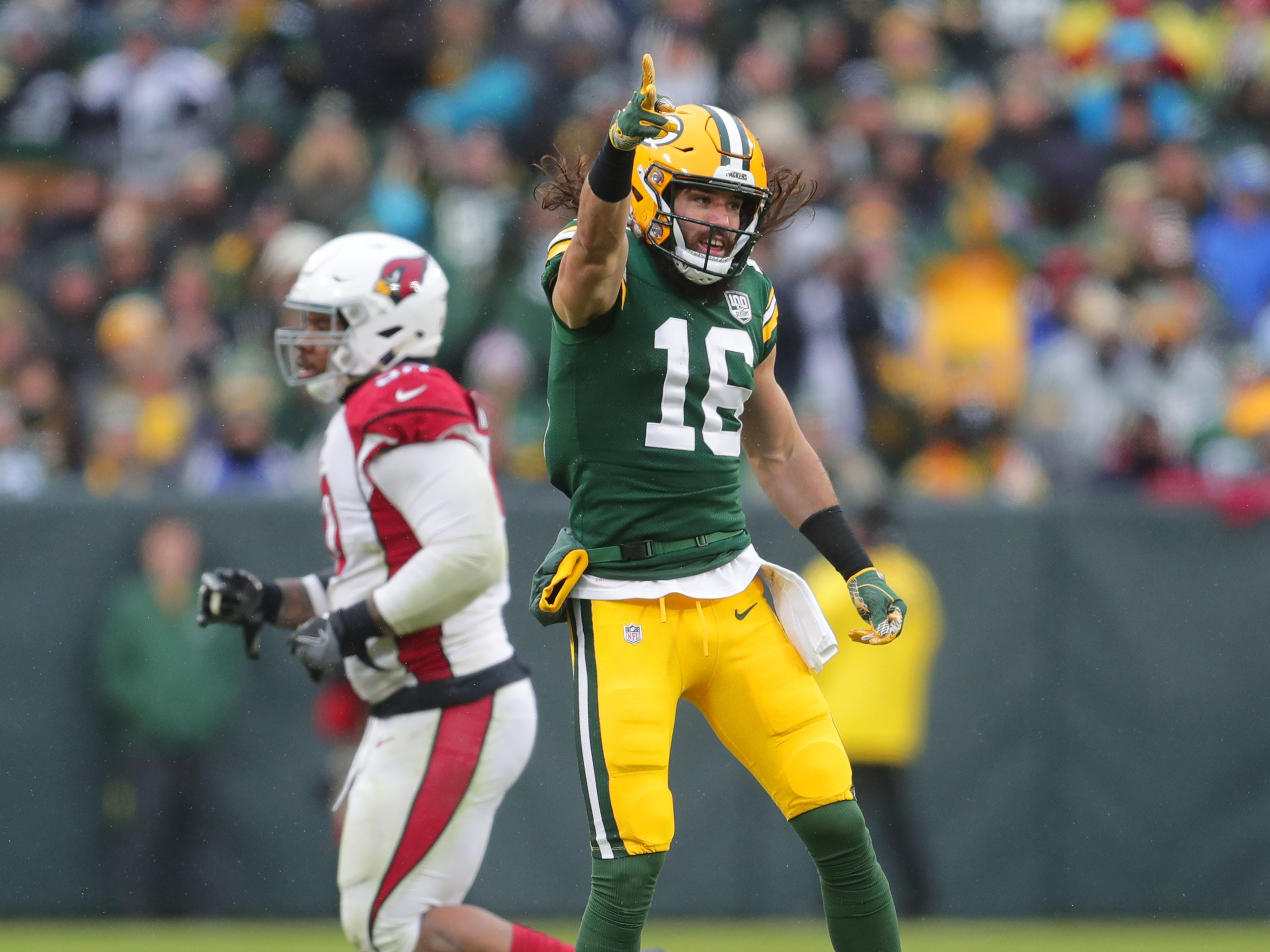 during the 4th quarter of Green Bay Packers game 20-17 loss against the Arizona Cardinals on Sunday, December 2, 2018 at Lambeau Field in Green Bay, Wis. Mike De Sisti / USA TODAY NETWORK-Wis