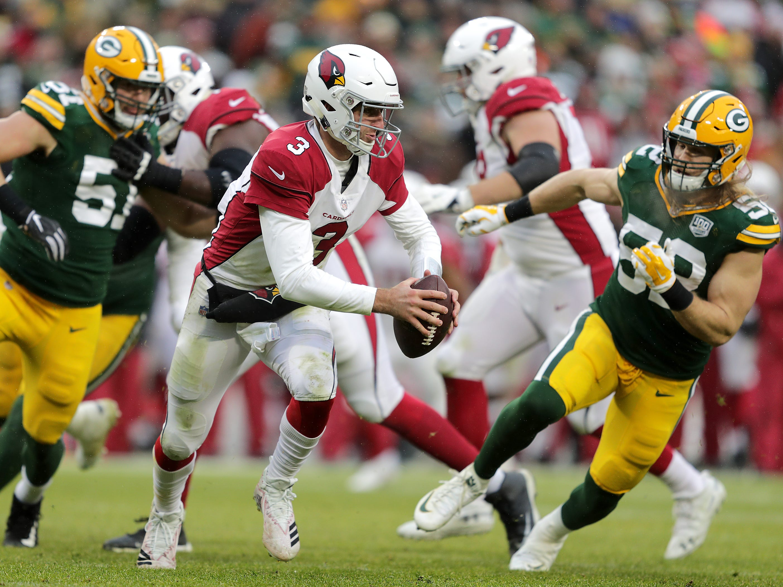 Arizona Cardinals quarterback Josh Rosen scrambles during their football game on Sunday, December 2, 2018, at Lambeau Field in Green Bay, Wis. Arizona defeated Green Bay 20 to 17. Wm. Glasheen/USA TODAY NETWORK-Wisconsin.