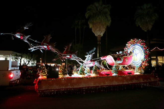 A scene from the 26th annual Palm Springs Festival of Lights parade on Dec. 1, 2018.