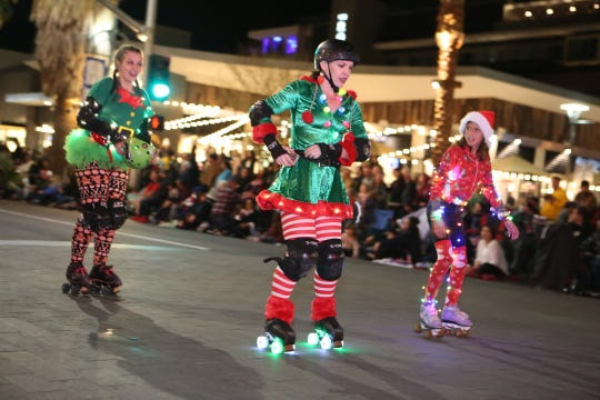 Scenes from the 26th annual Palm Springs Festival of Lights parade in downtown Palm Springs on December 1, 2018.