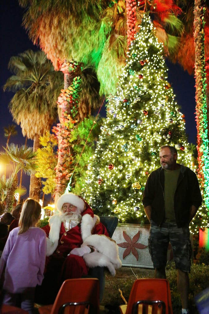 Scenes from the city of Palm Springs Annual Holiday Tree Lighting at Frances Stevens Park in downtown Palm Springs on November 30, 2018.