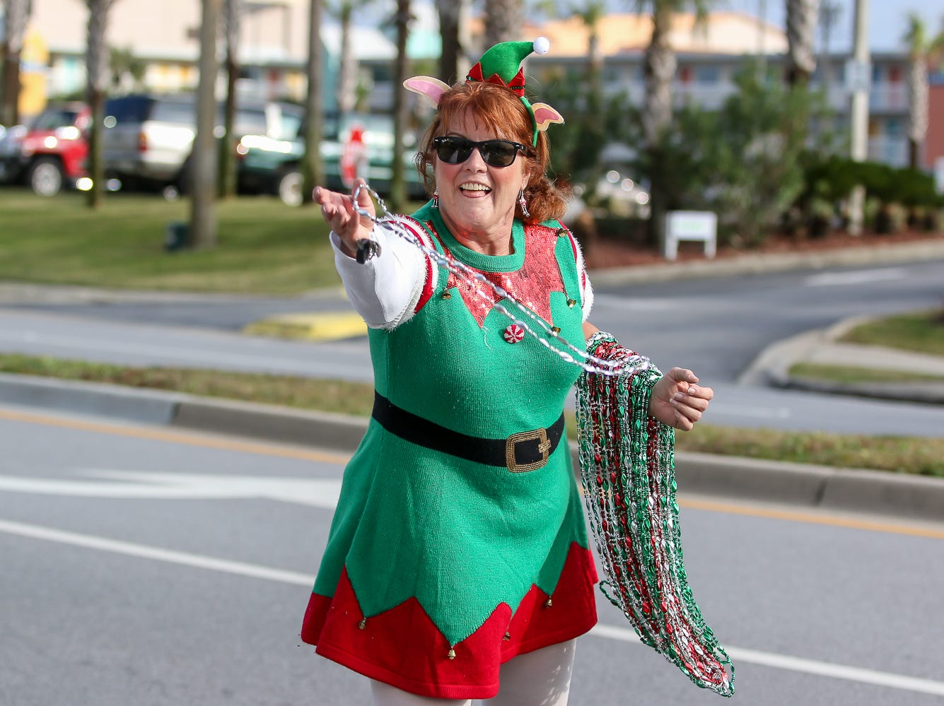 The Pensacola Beach Chamber of Commerce's annual Surfing Santa Beach Parade delights people on Sunday, December 2, 2018.