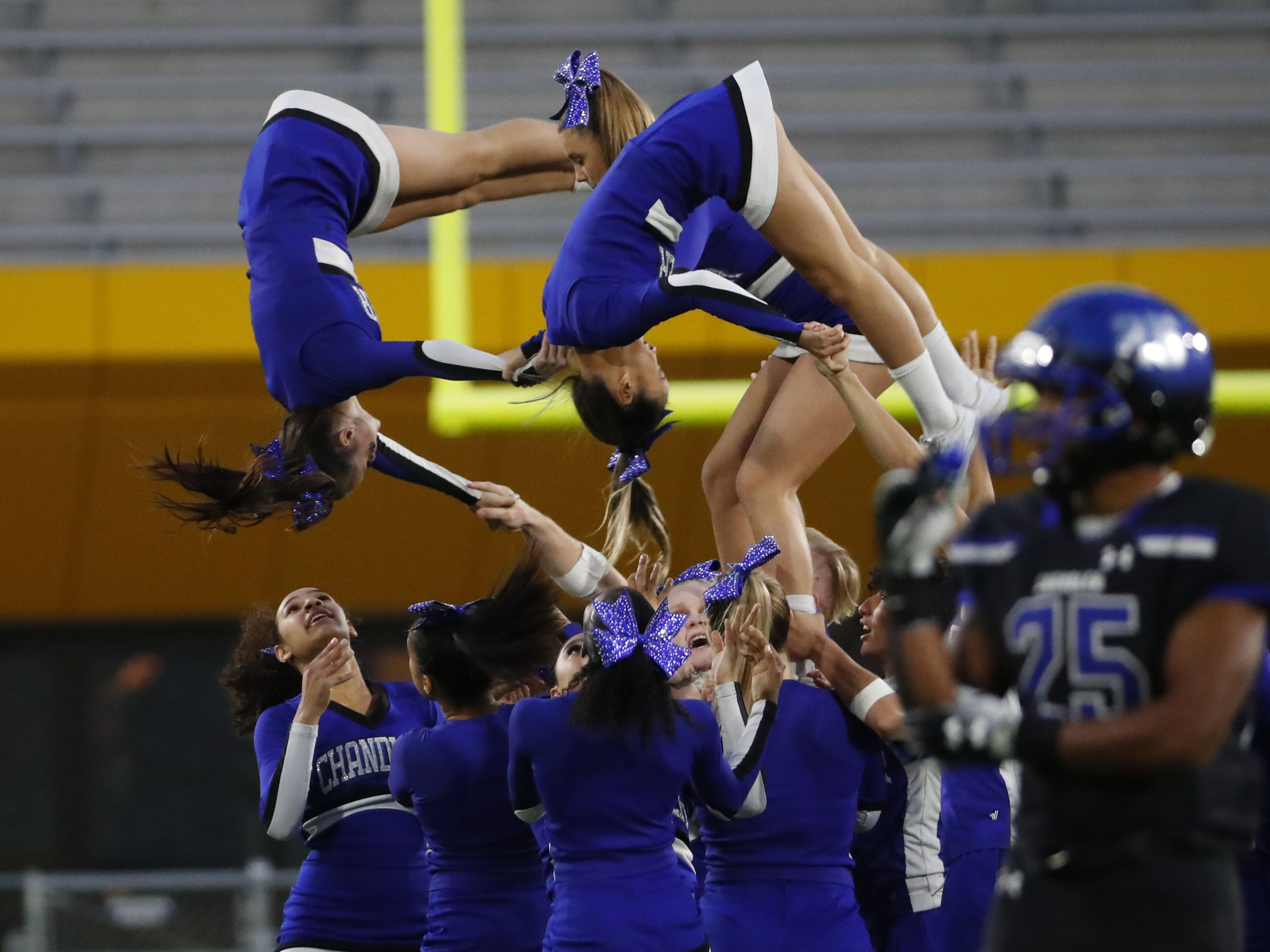 Chandler spirit line performs during the 6A state football championship against Perry at Sun Devil Stadium December 1, 2018. #azhsfb