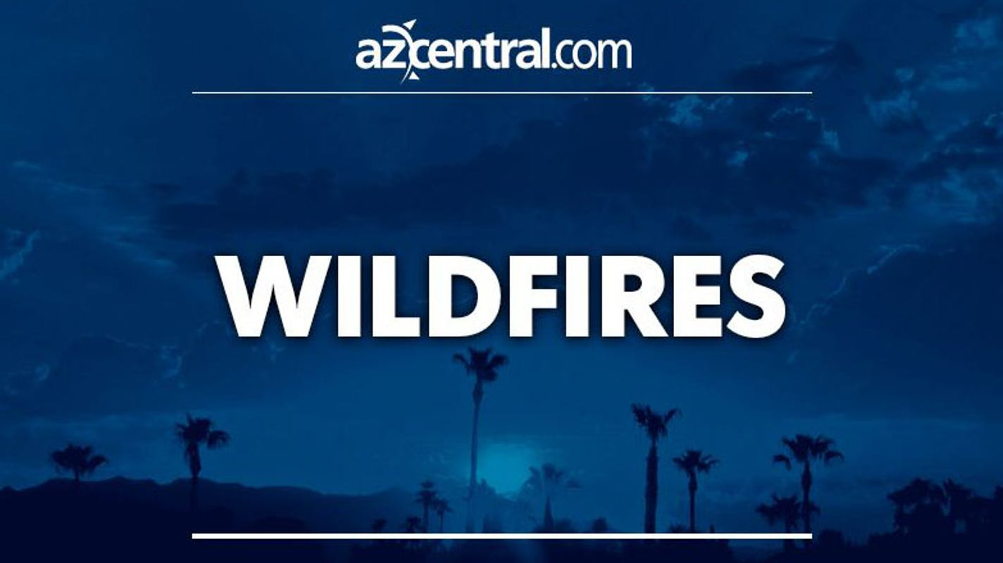 Lightning sparks fire on Tonto National Forest land north of Phoenix