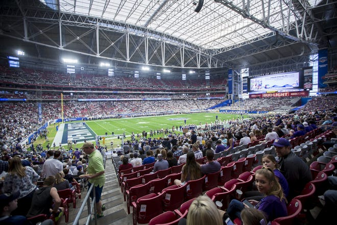 A general view of the stadium prior to the 47th PlayStation Fiesta Bowl at University of Phoenix Stadium on Saturday, December 30, 2017 in Glendale, Arizona.