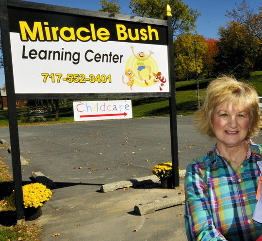 Linda Nolan, owner of Miracle Bush Learning Center, is pictured outside of the daycare, located on U.S. 11 just south of the borough of Shippensburg, in October 2015. This photo was cropped to remove a child whom Nolan was holding, given the nature of the accusations against Nolan and her husband.