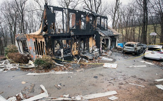 The fire began on the ground floor in the back of Melissa Herren's home and spread throughout the structure.