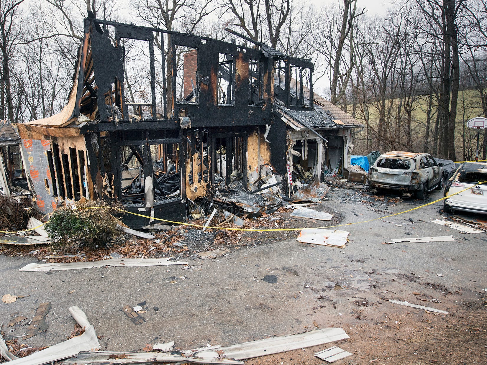 The fire began on the ground floor of back of Melissa Herring's home and spread throughout the structure.