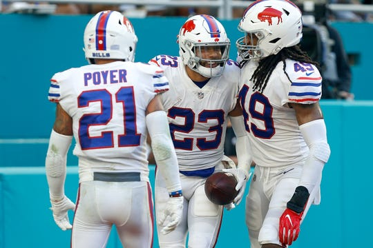 Jordfan Poyer, Micah Hyde and Tremaine Edmunds are cornerstones for the Bills as they try to build a playoff roster.