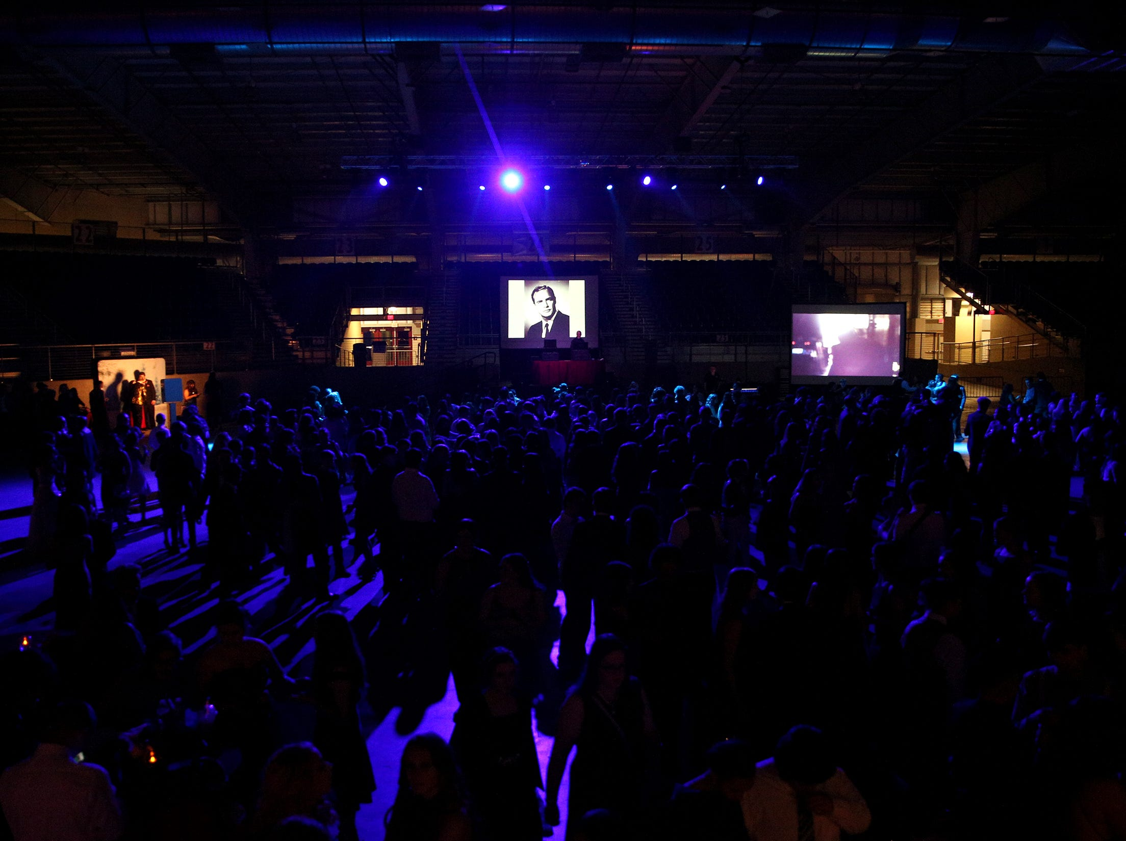 Students attend the 65th annual SnoBall at the Oregon State Fairgrounds Pavilion in Salem on Saturday, Dec. 1, 2018. Typically 1,000-2,000 students attend the event.