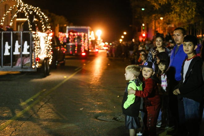 Floats roll along Chadbourne Street for the 2018 Concho Christmas Celebration Parade in downtown San Angelo. This year's parade was canceled due to COVID-19 challenges. The annual Tour of Lights will still be set up.