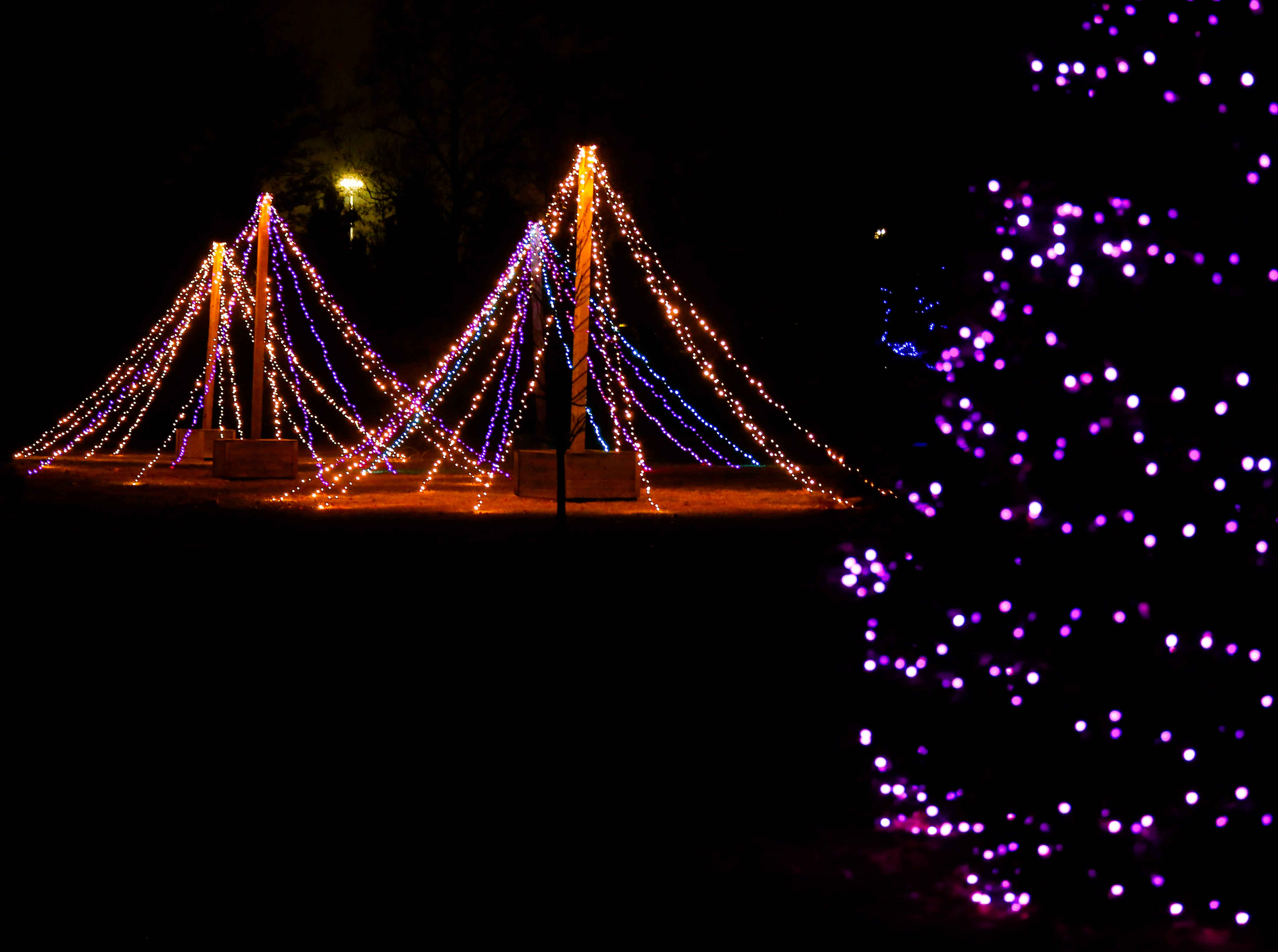 The Mizumoto Japanese Stroll Garden will be open and lit up with Christmas lights on Friday and Saturday nights through Dec. 22, 2018. Admission is $4.