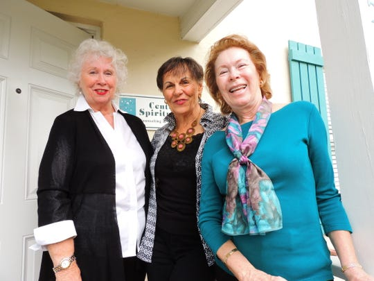 Center for Spiritual Care Fundraising Committee members Anne O'Neal, left, Fran Basso and Maryanne Wegerbauer.