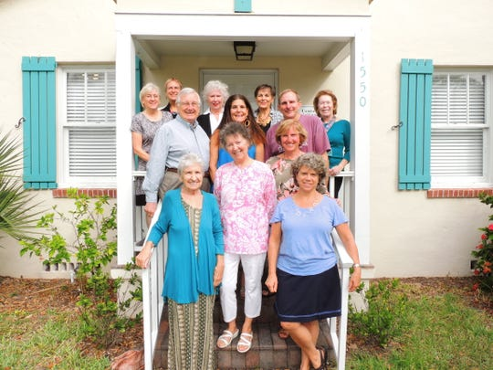 Center for Spiritual Care founders, staff and board members, from left, first row, Betty Ritchie and Martha Johnson; second row, Susan Johnson and Meg Hickey; third row, Warren Obluck, Shotsi LaJoie and Richard Schlitt; and fourth row, Carol Ludwig, Melanie Atkins, Anne O'Neal, Fran Basso and Maryanne Wegerbauer.