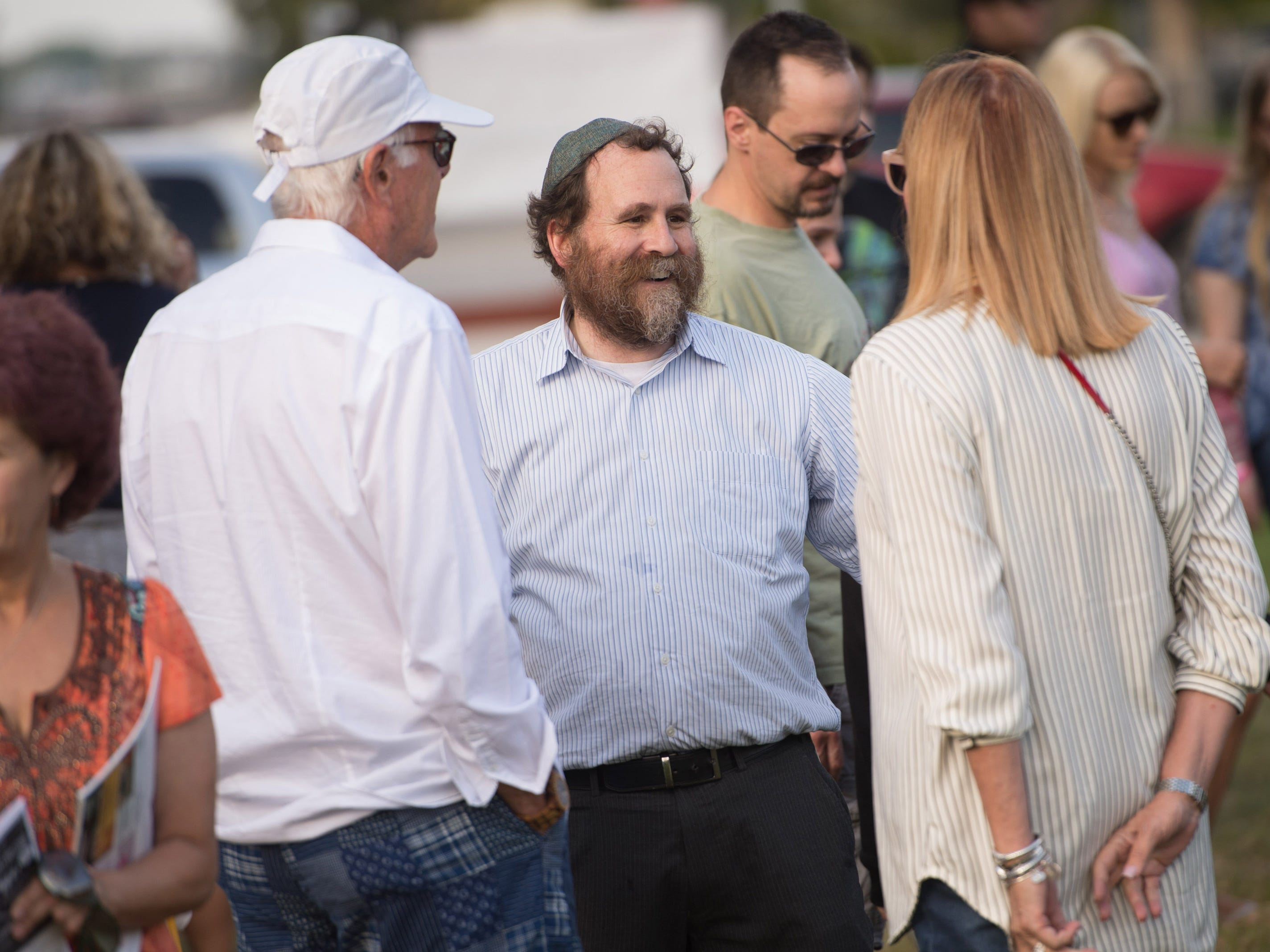 The 21st annual Community Chanukah Celebration and public Menorah Lighting Ceremony hosted by the Chabad Jewish Community Center of Martin and St. Lucie County at Memorial Park on Sunday, December 2, 2018 in Stuart.
