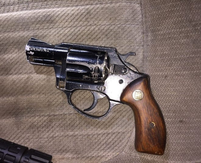 A loaded revolver found partially concealed during a vehicle search in Oxnard on Friday night.